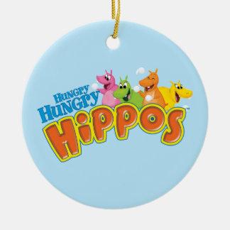 Hongerige Hongerige Hippos Rond Keramisch Ornament
