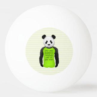 Hongerige Panda die een Grappige T-shirt dragen Pingpongbal