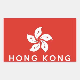Hongkong de tekst van de het symboolnaam van de rechthoekige sticker