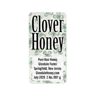 Honing 5 van de klaver Gepersonaliseerde lijn Etiket