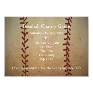 Honkbal 12,7x17,8 Uitnodiging Kaart