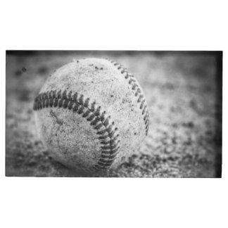 Honkbal in Zwart-wit Tafelnummer Houder