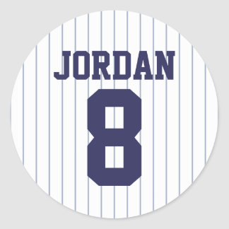 Honkbal Jersey - de Partij van de Verjaardag van Ronde Sticker