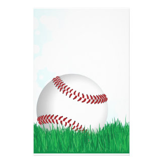 honkbal op gras briefpapier