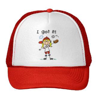 Honkbal van meisjes kreeg ik het petten met netje