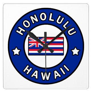 Honolulu Hawaï Vierkante Klok