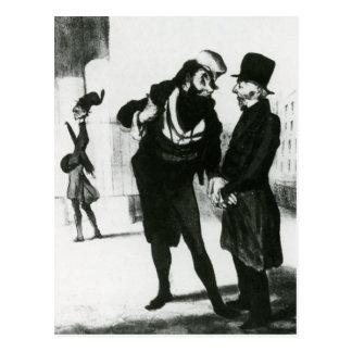 Honore Daumier: Robert Macaire Business Men Wens Kaarten
