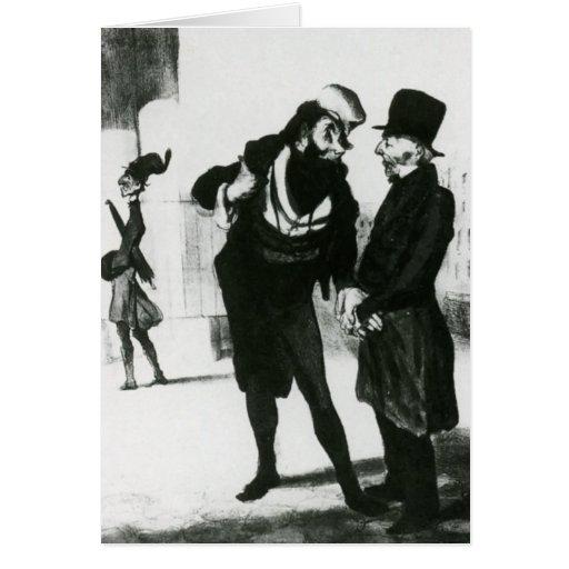 Honore Daumier: Robert Macaire Business Men Kaart
