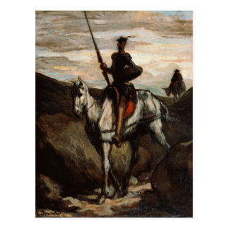 Honore Daumier - trek Don Quichot in de Bergen aan Briefkaart