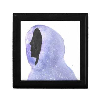 Hoodie die van Sterrelicht wordt gemaakt Vierkant Opbergdoosje Small