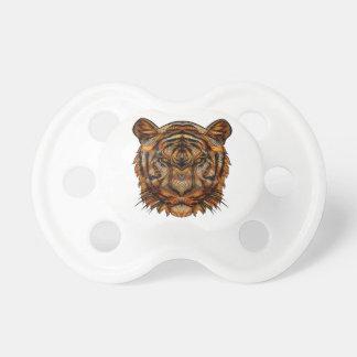 Hoofd1a van de tijger baby speentje