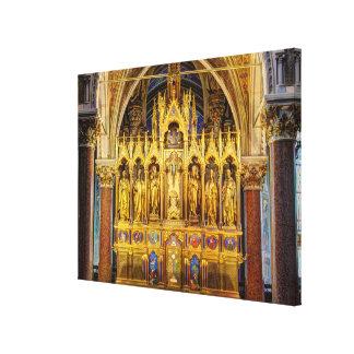 Hoofd Altaar in Votivkirche, Wenen Oostenrijk Canvas Afdruk