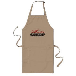 Hoofd chef-kokschort | beige lang schort