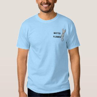 Hoofd Loodgieter Geborduurd Overhemd