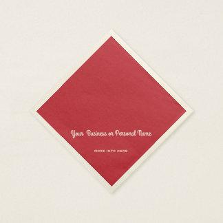 hoofd rode stevige kleur papieren servet