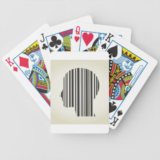 Hoofd slag een code pak kaarten