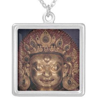 Hoofd van Bhairava, laat 17de eeuw Zilver Vergulden Ketting
