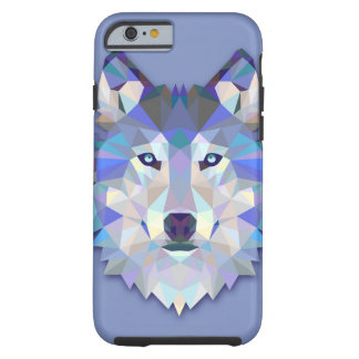 Hoofd van de Wolf van de WOLF van het KRISTAL het Tough iPhone 6 Hoesje