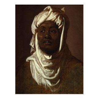 Hoofd van een Afrikaans Man die een Tulband dragen Briefkaart