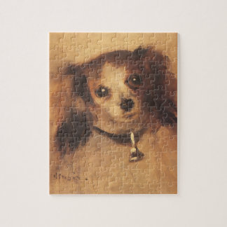 Hoofd van een Hond door Pierre Renoir, Vintage Legpuzzel
