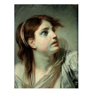 Hoofd van een Jong Meisje Briefkaart