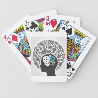 Hoofd van handen pak kaarten