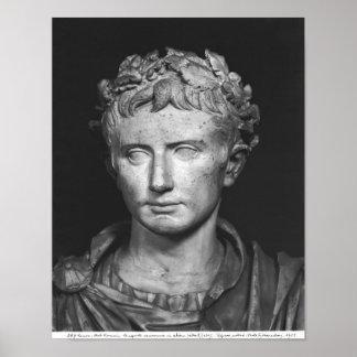 Hoofd van Keizer Augustus Poster