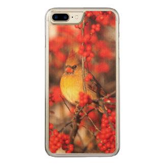 Hoofd vrouwelijke en rode bessen, IL Carved iPhone 8 Plus / 7 Plus Hoesje
