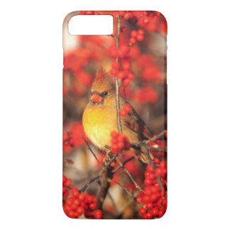 Hoofd vrouwelijke en rode bessen, IL iPhone 8/7 Plus Hoesje