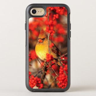 Hoofd vrouwelijke en rode bessen, IL OtterBox Symmetry iPhone 8/7 Hoesje