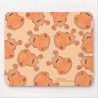 Hoofdcollage oranje Hippo Muismatten