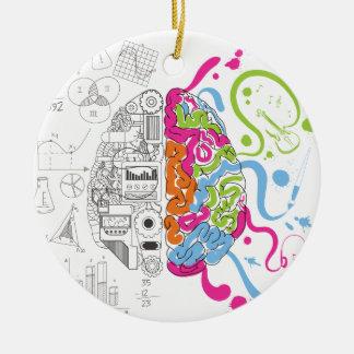 HoofdKant van de Mening van de Hersenen van Rond Keramisch Ornament
