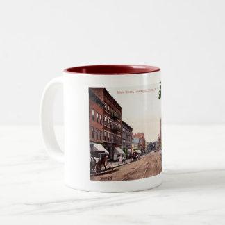 Hoofdstraat, de Wijnoogst van Dover, New Jersey Tweekleurige Koffiemok