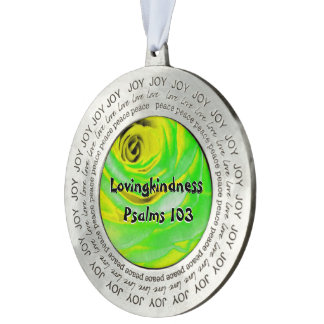 Hoofdstuk 103 van de Psalmen van Lovingkindness Rond Pewter Ornament