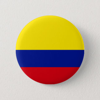 Hoog Colombia - de Vlag van de kwaliteit Ronde Button 5,7 Cm