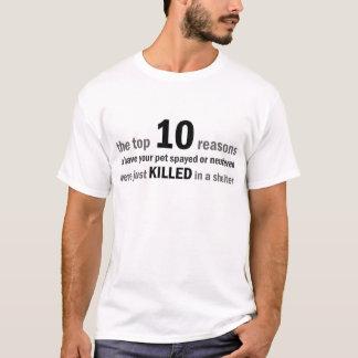Hoogste 10 Redenen te castreren of Onzijdig T Shirt