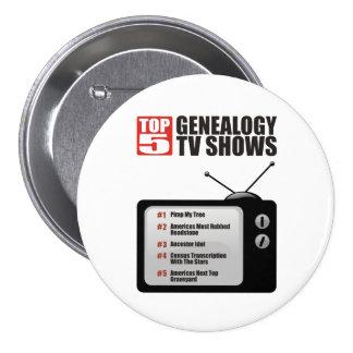 Hoogste TV van 5 Genealogie toont Ronde Button 7,6 Cm