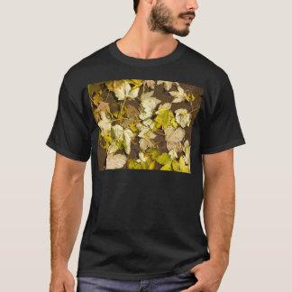 Hoogste uitzicht van bladeren van een de natte de t shirt