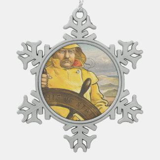 HOOGSTE Zeevaarder Tin Sneeuwvlok Ornament