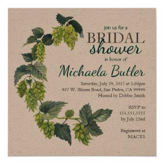 Hoop, de Douche van het Huwelijk van het Bier 13,3x13,3 Vierkante Uitnodiging Kaart