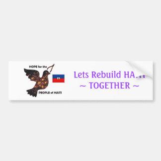Hoop voor de inwoners van Haïti - Vlag Bumpersticker