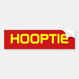 HOOPTIE BUMPERSTICKER