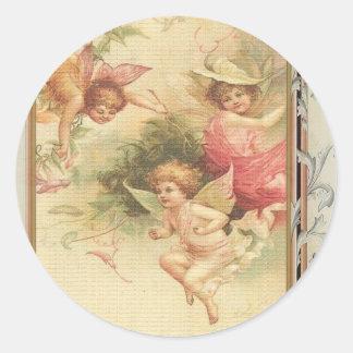 Hoopvol - Engelen & Bloemen Ronde Stickers