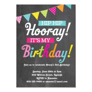 Hooray het is Mijn Verjaardag 12,7x17,8 Uitnodiging Kaart
