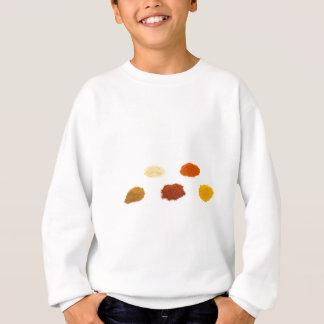Hopen van verscheidene kruidenkruiden op wit trui
