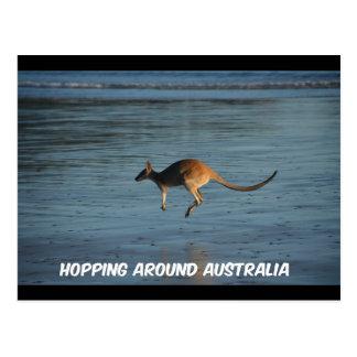 Hoppen rond het Briefkaart van de Kangoeroe van