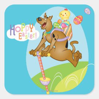 Hoppy Pasen Vierkante Sticker