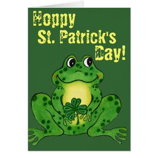 Hoppy St. Patrick Dag - Hoppy Kaart van de Kikker