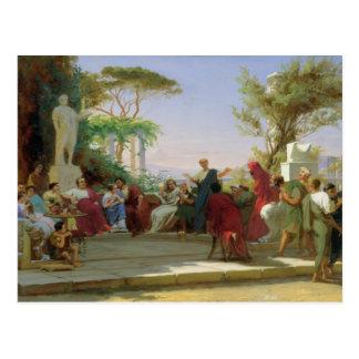 Horatius die zijn Satires aan Maecenas, 1863 lezen Briefkaart
