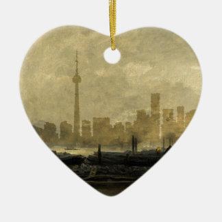 Horizon 41 van Toronto Keramisch Hart Ornament